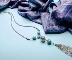 New Mayer designer necklace by Aleyne in turquoise and steel: a snip at £49