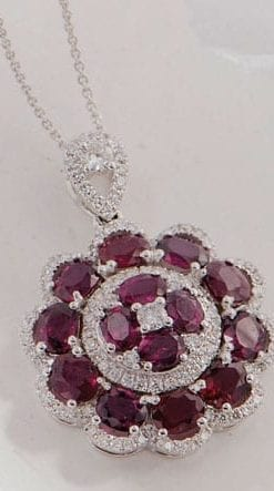 Rich and rare: The Erythros Necklace in rubies, diamonds and 18ct white gold