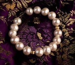 Gorgeous large pearl and 14ct gold bracelet from Hawaii