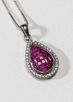 Ruby Helenus Pendant set in sterling silver