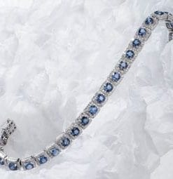 The fabulous Blue Sapphire, Diamond and 18ct Gold Isola Bella Bracelet