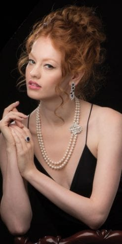 Dramatic beauty: La Traviata Pearl and Diamond Necklace - with detachable clasp to form Diamond Entanglement Pendant
