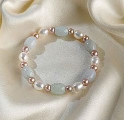 Claramae Natural Pearl and Jade Bracelet