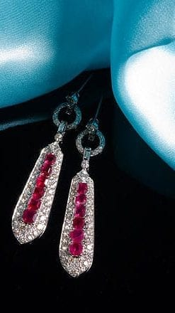 Burmese ruby and diamond earrings from Hatton Garden: save £5,725