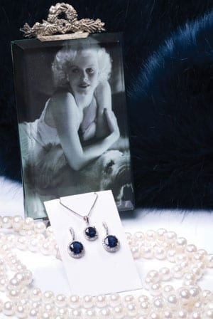 New Hatton Garden Collection: Blue sapphire, diamond and 18ct white gold cluster earrings