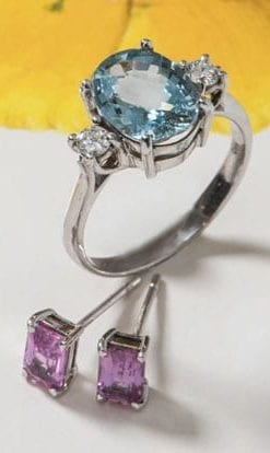 The Sea Pool Aquamarine and Diamond Ring