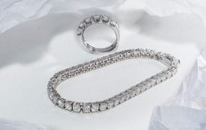 Fabulous Large Diamond and 18ct White Gold Tennis Bracelet: Save over £8,500