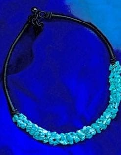 Thea Jewel Collar Necklace in Turquoise, Amethyst or Peridot