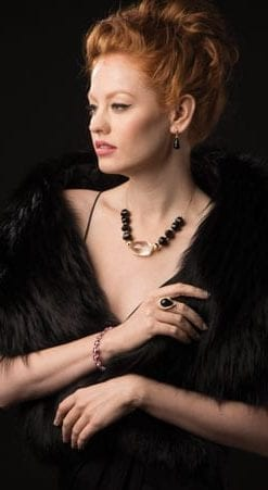 Gorgeous new Verdi Necklace in onyx, crystal and gold
