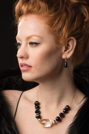 Fabulous Wagner Onyx and Gold Earrings from New York