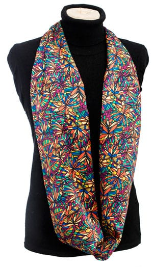 Vibrant new Liberty London silk scarf, 'Jewel': a snip at only £37