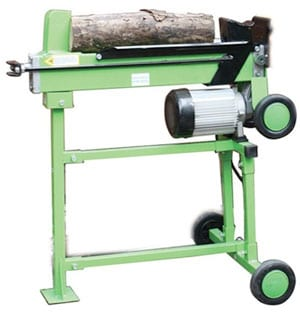 Four-Ton Horizontal Log Splitter with Steel Stand
