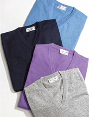 Italian luxurious cashmere-silk men's slipover