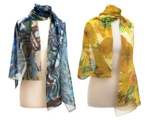 Exquisite Van Gogh masterpieces in pure silk chiffon stoles
