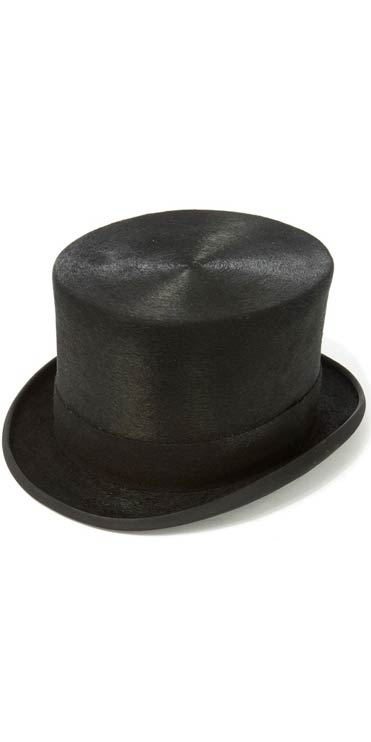 7a8c686ad5f Christys    Co Luxury Polished Black Fur Felt Polished Top Hat with 5 1 4in  Crown - CountryClubuk