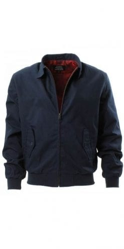 Modern Classic Harrington Jacket in Navy from Tootal
